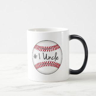 Number One Uncle on Baseball Magic Mug
