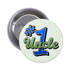 Round Button with Number One Uncle design