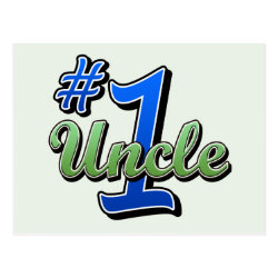 Number One Uncle Postcard