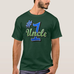Men's Basic Dark T-Shirt with Number One Uncle design