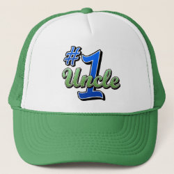 Trucker Hat with Number One Uncle design