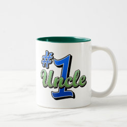 Two-Tone Mug with Number One Uncle design