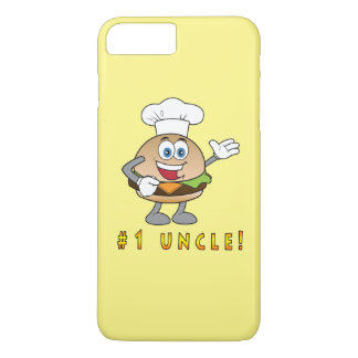 Number One Uncle with Cheeseburger iPhone 8 Plus/7 Plus Case