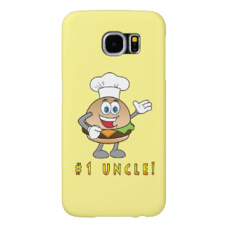Number One Uncle with Cheeseburger Samsung Galaxy S6 Case