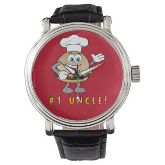 Number One Uncle with Cheeseburger Watch