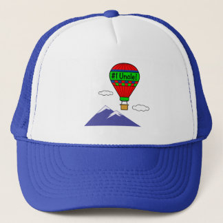 Number One Uncle with Hot Air Balloon Trucker Hat