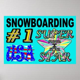Number One USA Snowboarding Superstar Poster