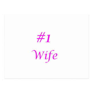 number one wife postcard