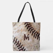 Number or Monogram Baseball Tote Bag