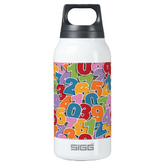 Number pattern insulated water bottle