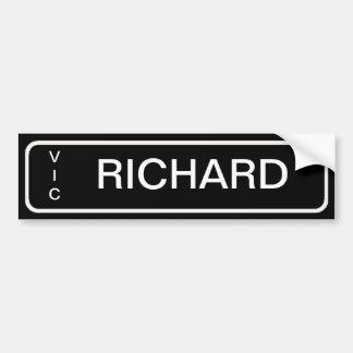 Number Plate Bedroom Door Labels Bumper Sticker