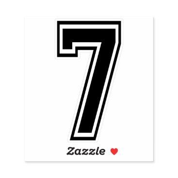 Number Seven 7 Sport Font Sticker