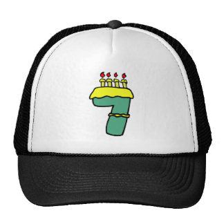 Number Seven 7th Birthday Gifts Trucker Hat