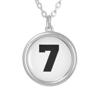 Number Seven Circle Necklaces