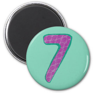 Number Seven Magnet