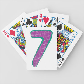 Number Seven Play Cards Bicycle Playing Cards