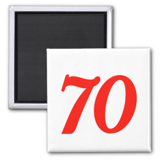 Number Seventy 70th Birthday Gifts Magnet