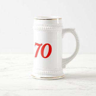 Number Seventy 70th Birthday Gifts Coffee Mugs
