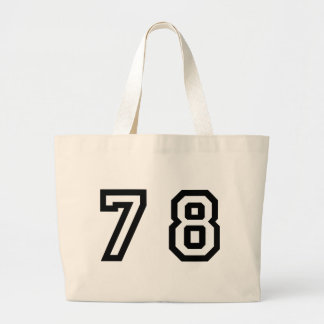 Number Seventy Eight Large Tote Bag