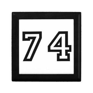 Number Seventy Four Keepsake Box