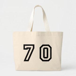 Number Seventy Large Tote Bag