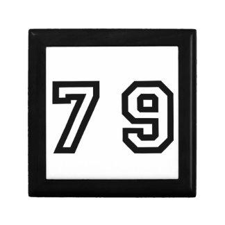 Number Seventy Nine Gift Box