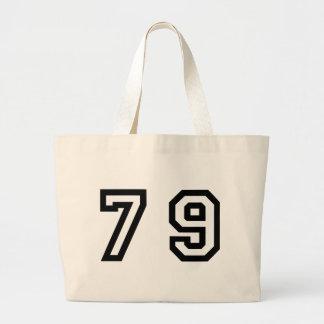 Number Seventy Nine Large Tote Bag