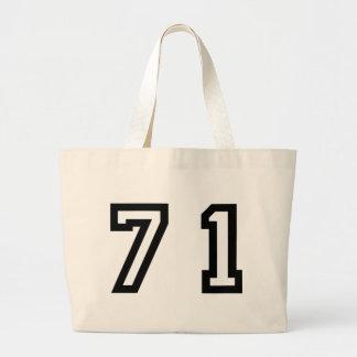 Number Seventy One Large Tote Bag