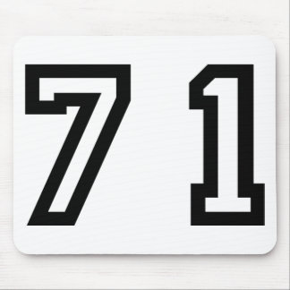 Number Seventy One Mouse Pad