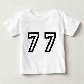 Number Seventy Seven Baby T-Shirt