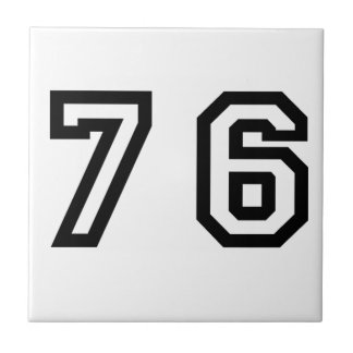 Number Seventy Six Ceramic Tile