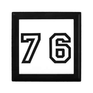 Number Seventy Six Gift Box