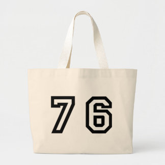 Number Seventy Six Large Tote Bag