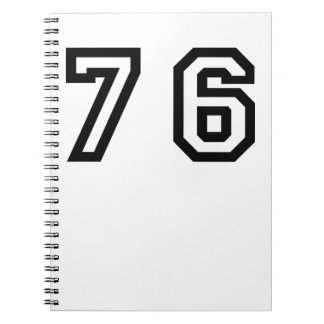 Number Seventy Six Notebook