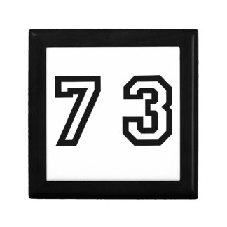 Number Seventy Three Gift Box
