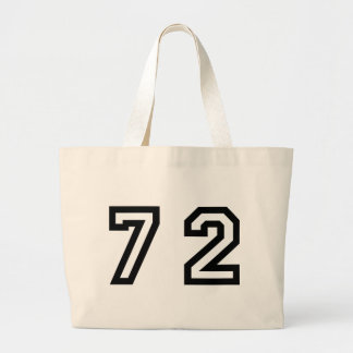 Number Seventy Two Large Tote Bag