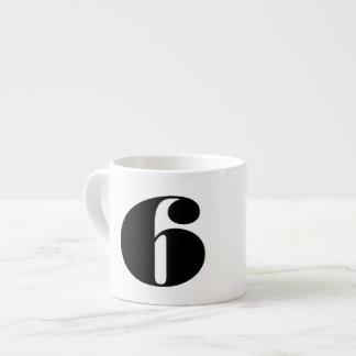 Number Six 6 Oz Ceramic Espresso Cup