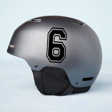 Number Six 6 Sport Font Sticker