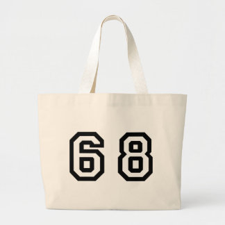 Number Sixty Eight Large Tote Bag