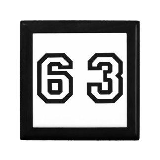 Number Sixty Three Jewelry Box
