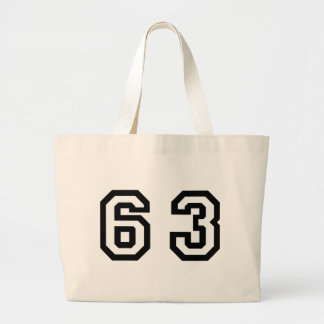 Number Sixty Three Large Tote Bag