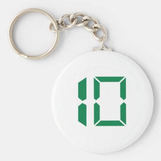 Number - Ten - 10 Basic Round Button Keychain