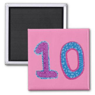 Number Ten Magnet