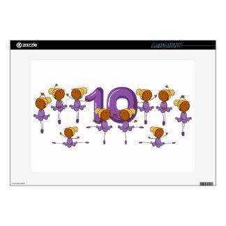 "Number ten 15"" laptop decal"