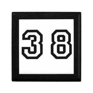 Number Thirty Eight Gift Box