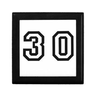 Number Thirty Jewelry Box