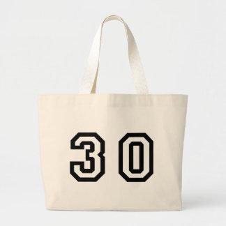 Number Thirty Large Tote Bag