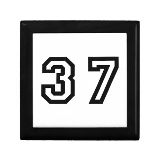 Number Thirty Seven Gift Box