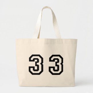 Number Thirty Three Large Tote Bag