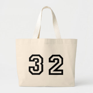Number Thirty Two Jumbo Tote Bag